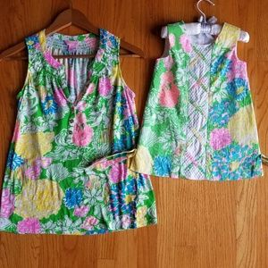 Lilly Pulitzer mother daughter matching set shift